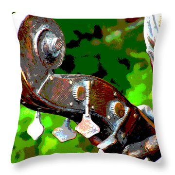 Bass Fiddle Throw Pillow by Charlie and Norma Brock