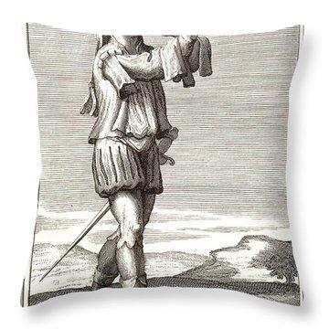 Bass Trombone, 1723 Throw Pillow by Granger