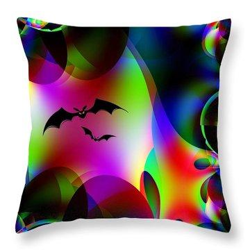 Bat Cave Throw Pillow by Maria Urso