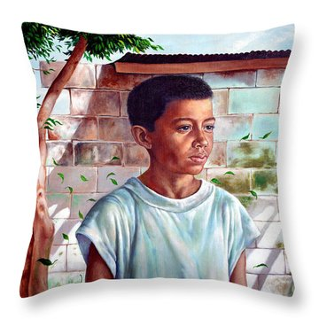 Bata The Filipino Child Throw Pillow