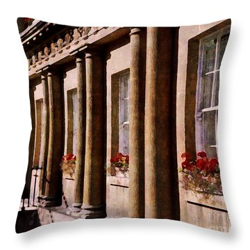 Throw Pillow featuring the photograph Bath Royal Crescent by Deborah Smith