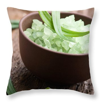 Bath Salt Throw Pillow by Kati Finell