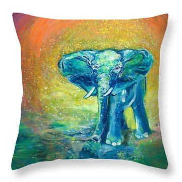 Bathe Me In Thy Light Throw Pillow by Ashleigh Dyan Bayer