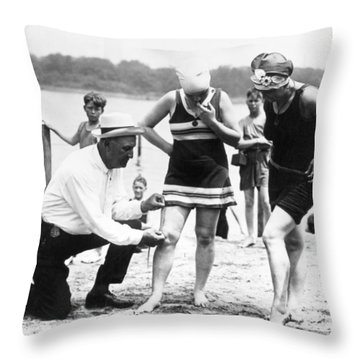 Bathing Suits, 1922 Throw Pillow by Granger