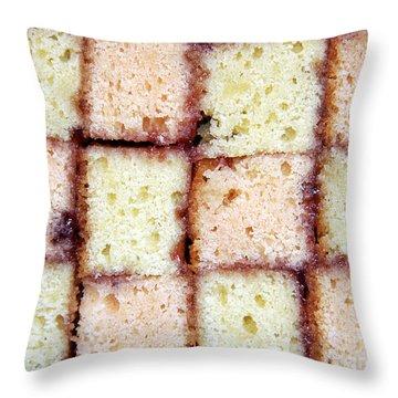 Battenburg Cake Throw Pillow by Jane Rix