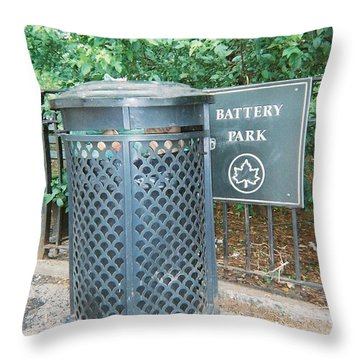 Throw Pillow featuring the photograph Battery Park by Lola Connelly