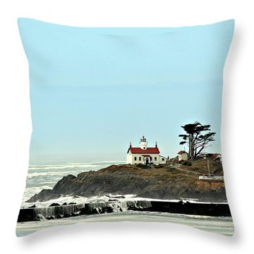 Throw Pillow featuring the photograph Battery Point Lighthouse II by Jo Sheehan