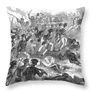 Battle Of Cerro Gordo Throw Pillow by Granger