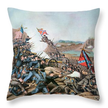 Battle Of Franklin, 1864 Throw Pillow by Granger