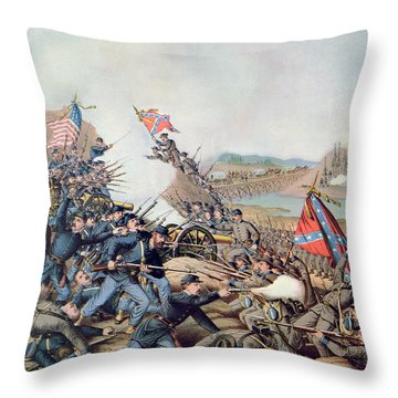 Battle Of Franklin November 30th 1864 Throw Pillow by American School