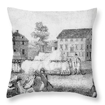 Battle Of Lexington, 1775 Throw Pillow by Photo Researchers
