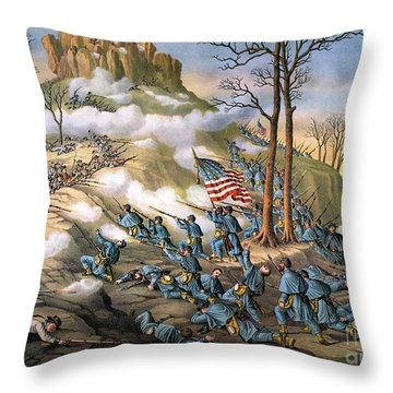 Battle Of Lookout Mount Throw Pillow by Granger