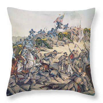 Battle Of Nashville December 15-16th 1864 Throw Pillow by American School
