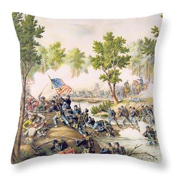 Battle Of Spottsylvania May 1864 Throw Pillow by American School
