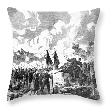 Battle Of The Chickahominy Throw Pillow by Granger