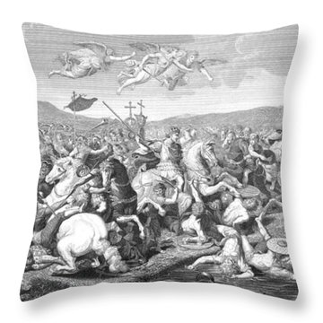 Battle Of The Milvian Bridge, 312 Ad Throw Pillow by Photo Researchers