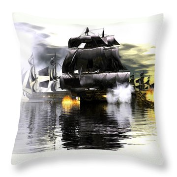 Battle Smoke Throw Pillow