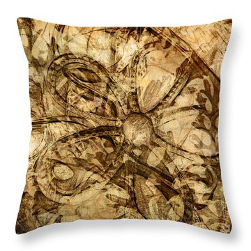 Baubles Throw Pillow by Judi Bagwell