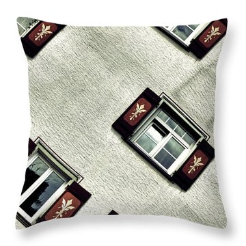 Bavarian Window Shutters Throw Pillow