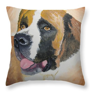Throw Pillow featuring the painting Baxter by Norm Starks