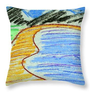 Bay Throw Pillow by Hakon Soreide
