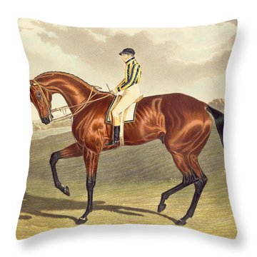 Bay Middleton Winner Of The Derby In 1836 Throw Pillow