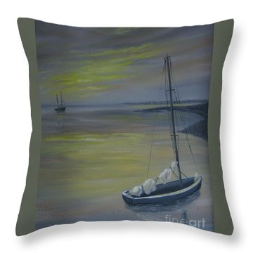 Bayside Boat Throw Pillow