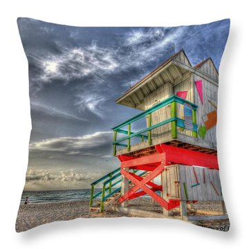 Baywatch Miami Throw Pillow
