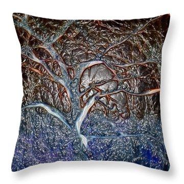 Bb's Tree 3 Throw Pillow