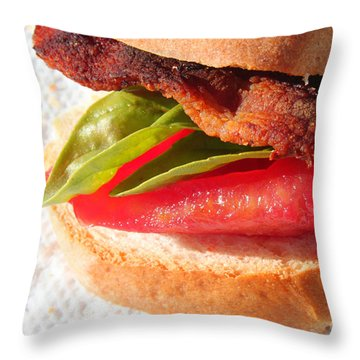 Bbt Bacon Basil Tomato Throw Pillow