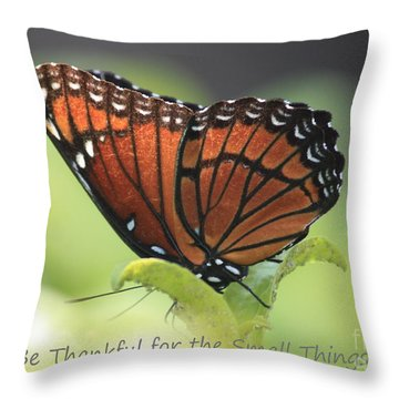 Be Thankful Throw Pillow by Carol Groenen