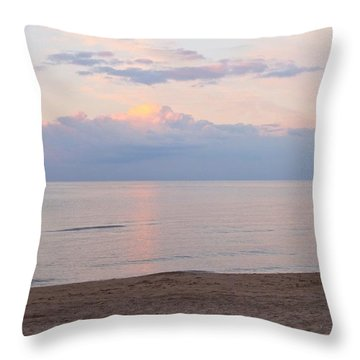 Beach At Dusk  Throw Pillow by Justin Connor