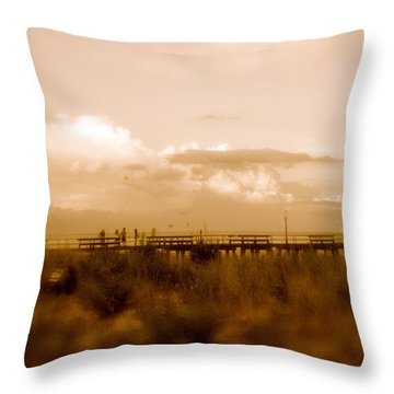Beach Effect Throw Pillow