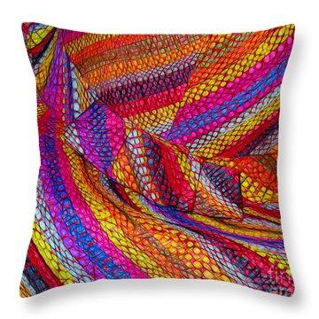 Beach Hat Throw Pillow by Judi Bagwell