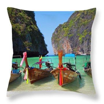 Beach In Phi Phi Throw Pillow