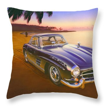 Beach Mercedes Throw Pillow by Andrew Farley