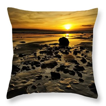 Beach Morning Glory Throw Pillow by Svetlana Sewell
