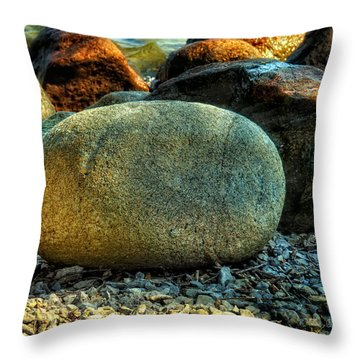 Beach Rocks Throw Pillow