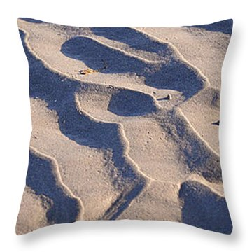 Beach Sand At Sunset Throw Pillow by Phill Petrovic