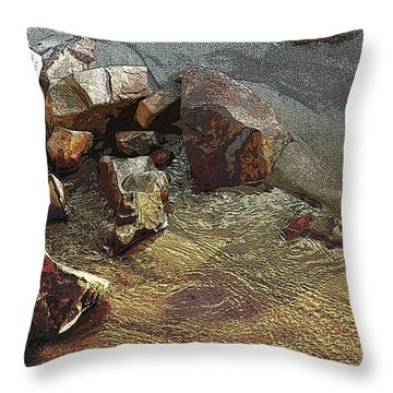 Beach Sand  Throw Pillow by Mary Gaines