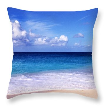 Beach Serenity Throw Pillow