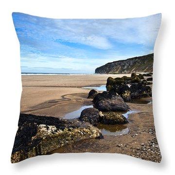 Beach Stones Throw Pillow by Svetlana Sewell