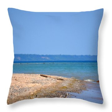 Beach Views Throw Pillow by Dyana Rzentkowski