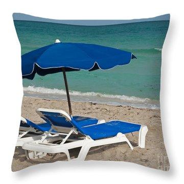 Beachtime Throw Pillow by Barbara McMahon