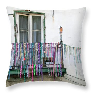 Bead The Porch Throw Pillow