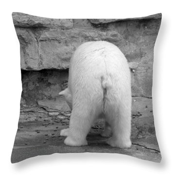 Bear Butt Throw Pillow