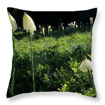 Throw Pillow featuring the photograph Bear-grass II by Sharon Elliott