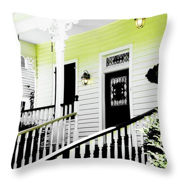 Beauregard Town Baton Rouge Throw Pillow