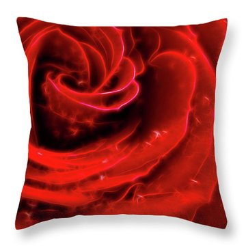 Beautiful Abstract Red Rose Throw Pillow by Oleksiy Maksymenko