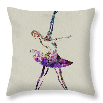 Beautiful Ballerina Throw Pillow